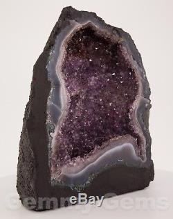 B0775 10.67 16.12lbs Cathedral Amethyst Geode Quartz Crystals Agate Cluster