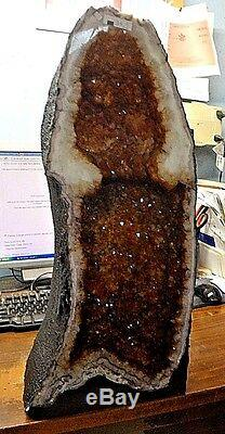 BEAUTIFUL 24 in. BRAZILIAN CITRINE CRYSTAL CATHEDRAL CLUSTER GEODE GREAT PRICE