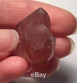 Beautiful Pink Lepidocrocite Strawberry Quartz Crystal Cluster Kazakhstan