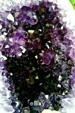 Big Amethyst Geode Crystal Cluster Polished Rims Natural Cathedral Tower rv01