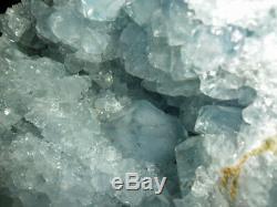 Blue Celestite Quartz Geode Cluster Crystal Gemstone Beautiful and Huge