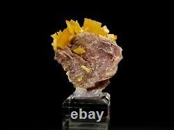 Bright Yellow Wulfenite Crystal Cluster from La Morita Mine #13