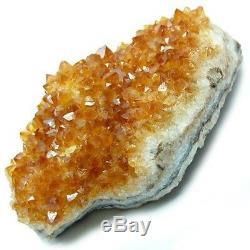 CITRINE CLUSTER Natural Geode Orange Crystal Quartz BRAZIL Healing 2-3 LARGE