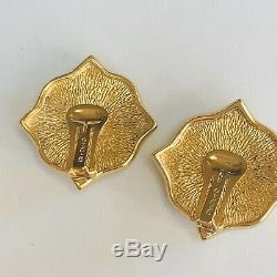 Christian DIOR Germany Cabochon Earrings Crystals Vintage MINT Condition