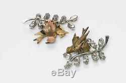 Christian Dior 1956 Bal des Oiseaux by Mitchel Maer Bird Earrings