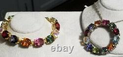 Chuck clemency NYCII Yellow gold/sterling silver Rainbow quartz Tennis bracelet
