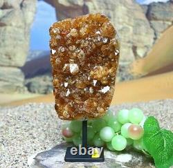 Citrine Quartz Large Crystal Cluster + Stand Natural Healing Mineral Druzy 1036g