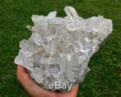Clear Quartz Crystal Cluster 100% Natural from Arkansas YouTube Documented