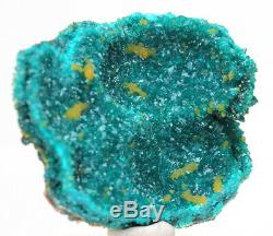 DIOPTASE MIMETITE Crystal Cluster Emerald Green Mineral Specimen CONGO