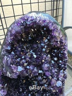 Deep Purple Uruguayan Amethyst Geode Cluster Quartz Crystal Agate