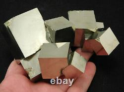ELEVEN! Nice and Natural Entwined PYRITE Crystal Cubes! In a BIG Cluster! 648gr