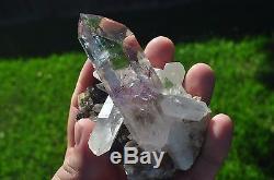 Enhydro Brandberg quartz crystal cluster- Great Display Specimen 169g 97mm long