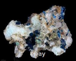 Excellent Rare Royal Blue Veszelyite Crystal Clusters on Matrix from China