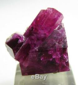 Extraordinary Vibrant Gem Red Beryl Bixbite Crystal Cluster! Wah Wah Mts Utah