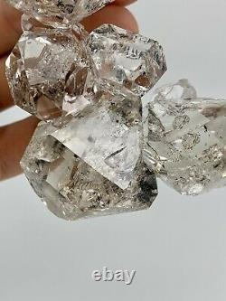 Fine NY Herkimer Diamond Crystal Cluster, 30+ Crystals, Record Keeper, Aesthetic