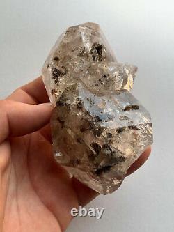 Genuine Large NY Herkimer Diamond Rainbow Quartz Crystal Cluster, Aesthetic form