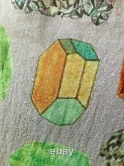 Gorman Crystal Cluster Gem Geology Smock Babydoll Dress SZ L 10-12-14