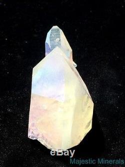 HIGH END LARGE Dramatic OPAL / ANGEL AURA Arkansas Quartz Crystal Cluster