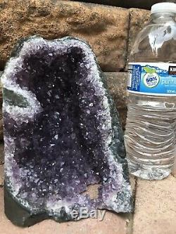 HUGE AMETHYST CRYSTAL CLUSTER GEODE FROM URUGUAY CATHEDRAL Almost 5lb Healing