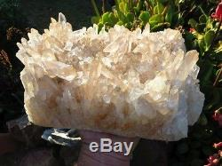 HUGE African Clear Quartz Crystal Cluster Over 16lbs! From Madagascar