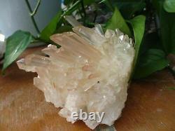 HUGE! NATURAL TRANSPARENT red citrine QUARTZ CRYSTAL CLUSTER 1209g H1