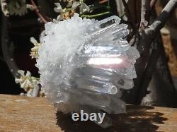 High Quality Natural Clear Quartz Crystal Cluster 485g Raw & Rough