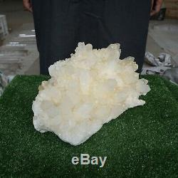 Huge 45.63LB Natural White Clear Quartz Crystal Cluster Points Original Rock
