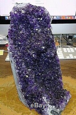 Huge Amethyst Crystal Cluster Geode From Uruguay Cathedral