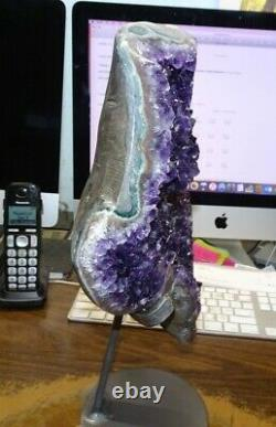 Huge Amethyst Crystal Cluster Geode Uruguay Cathedral Stalactite Bases Stand