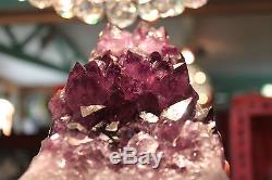 Huge Amethyst Crystal Cluster XL Purple Brazil Quartz Over 2kgs Sale Free Post