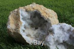 Huge Geode From Morocco Large 26 Lb. Moroccan Quartz Geode Crystal Cluster 1839