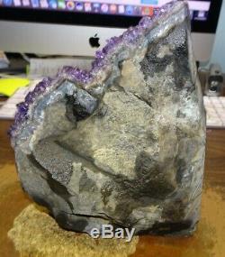 Huge Uruguayan Amethyst Crystal Cluster Geode From Uruguay Cathedral