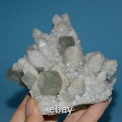 Inner Mongolia Quartz Crystal Cluster with Green Fluorite-fl0383