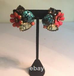 Iradj Moini Coral, Turquoise, & Quartz Earrings