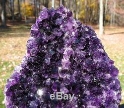 Juicy Uruguayan Uruguay Amethyst Crystal Cluster w Cut Base