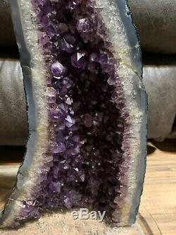 LARGE AMETHYST CRYSTAL CLUSTER GEODE CATHEDRAL 8.85 Lbs 18.5
