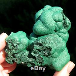 LARGE Botryoidal Malachite Crystal Cluster Mineral Specimen Bubbles Congo Africa