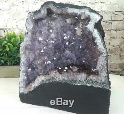LARGE QUALITY AMETHYST CRYSTAL QUARTZ CLUSTER GEODE CATHEDRAL 18.70 lb (AC135)