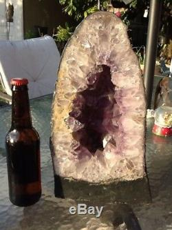 Large 18 LB 13 Inches Cathedral Amethyst Geode Quartz Cluster
