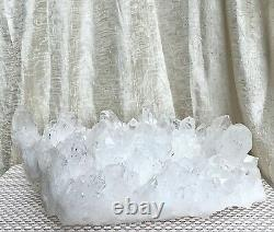 Large 6.335 Lbs Natural Clear Quartz Cluster Healing Energy Length 10.5x7.5