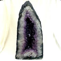 Large Amethyst Cathedral Quartz Crystal Cluster Natural Geode Cave 13.3kg 41cm