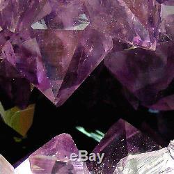 Large Amethyst Cathedral Quartz Crystal Cluster Natural Geode Cave 4.25kg 27cm