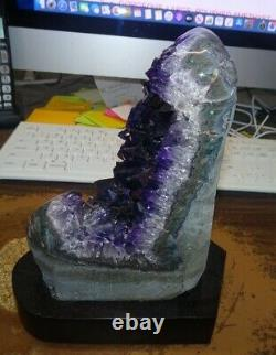 Large Amethyst Crystal Cluster Cathedral Geode From Uruguay