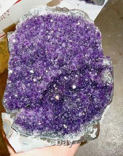 Large Amethyst Crystal Cluster Geode From Uruguay Cathedral