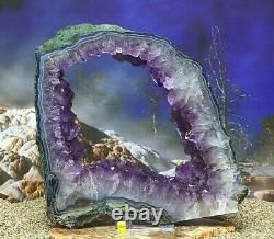 Large Amethyst Crystal Geode Cluster On Stand Natural Mineral Healing 4.25kg