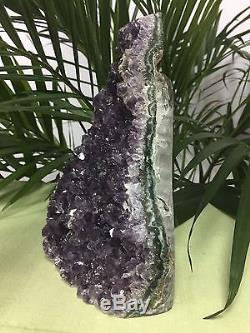 Large Amethyst Geode Cluster Crystal Quartz Cut Base Amethyst Specimen Uruguay