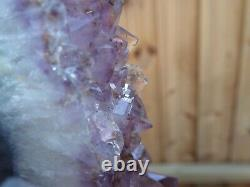 Large Artisan Amethyst Geode Crystal Cluster on Bespoke Iron Stand 2.6kgs
