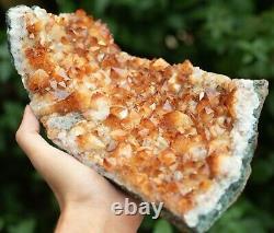 Large Citrine Crystal Cluster, Golden Mineral Gemstone Specimen 1.3kg
