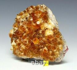 Large Citrine Quartz Crystal Cluster Natural Raw Healing Mineral Druzy 1220g