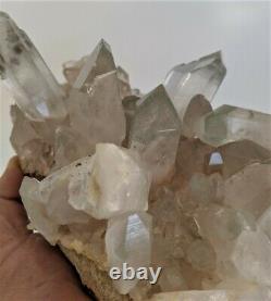 Large Green Phantom Quartz Cluster Natural Himalayan Rare Crystal (270x140mm)